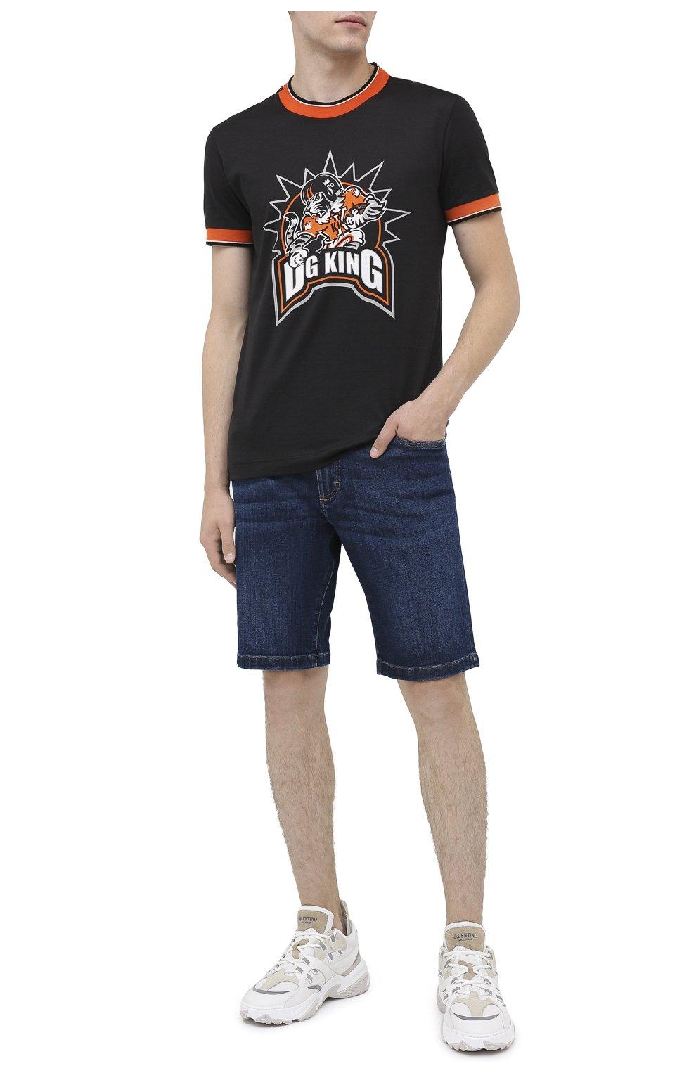 Мужская хлопковая футболка DOLCE & GABBANA черного цвета, арт. G8KC0T/FI7W4   Фото 2