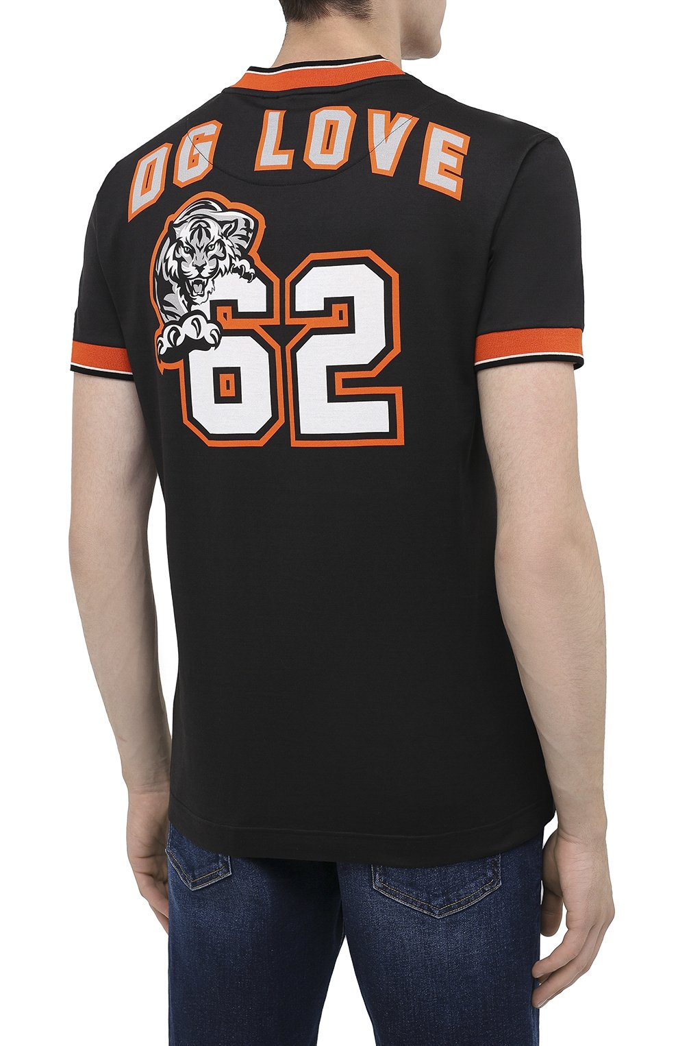 Мужская хлопковая футболка DOLCE & GABBANA черного цвета, арт. G8KC0T/FI7W4   Фото 4