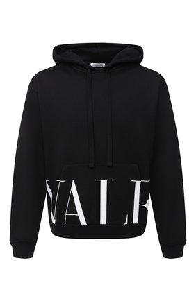 Мужской хлопковое худи VALENTINO черно-белого цвета, арт. UV3MF15N6M1 | Фото 1