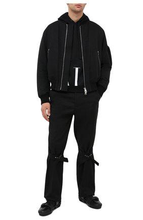 Мужской хлопковое худи VALENTINO черно-белого цвета, арт. UV3MF15N6M1 | Фото 2