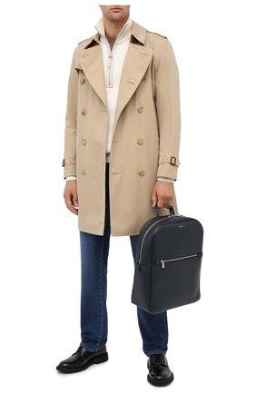 Мужской кожаный рюкзак evoluzione SERAPIAN темно-синего цвета, арт. SEV0LMLL7006M31C | Фото 2