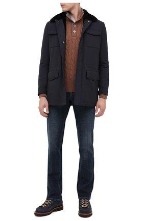 Мужская куртка с меховой подкладкой KITON темно-синего цвета, арт. UW0315MV03T58 | Фото 2