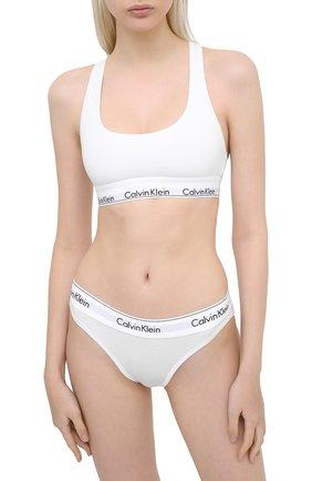 Женские трусы-слипы CALVIN KLEIN белого цвета, арт. F3787E | Фото 2