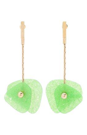 Женские серьги CRYSTALLINE JEWELLERY зеленого цвета, арт. 365B | Фото 1