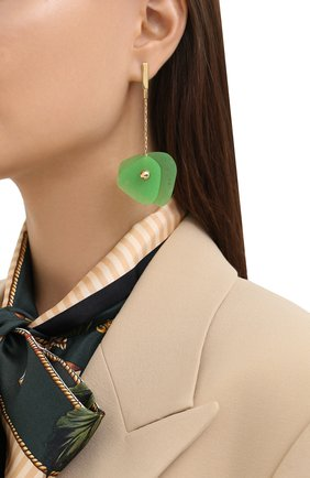 Женские серьги CRYSTALLINE JEWELLERY зеленого цвета, арт. 365B | Фото 2