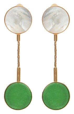 Женские серьги CRYSTALLINE JEWELLERY зеленого цвета, арт. 364QM | Фото 1