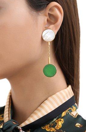 Женские серьги CRYSTALLINE JEWELLERY зеленого цвета, арт. 364QM | Фото 2