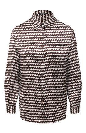 Женская шелковая рубашка KITON коричневого цвета, арт. D50423K05T59 | Фото 1