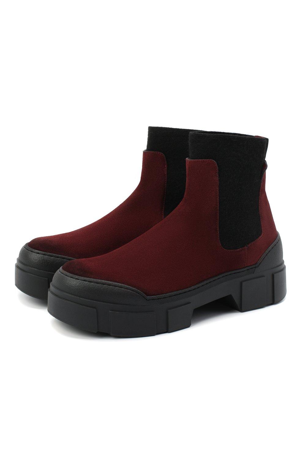 Женские замшевые ботинки VIC MATIE бордового цвета, арт. 1Y5100D.V14X050323 | Фото 1