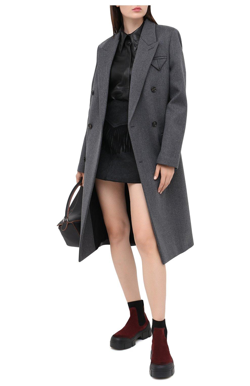 Женские замшевые ботинки VIC MATIE бордового цвета, арт. 1Y5100D.V14X050323 | Фото 2