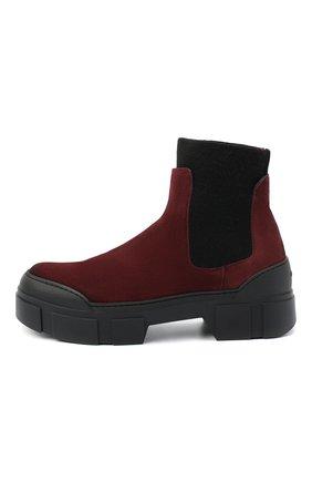 Женские замшевые ботинки VIC MATIE бордового цвета, арт. 1Y5100D.V14X050323 | Фото 3