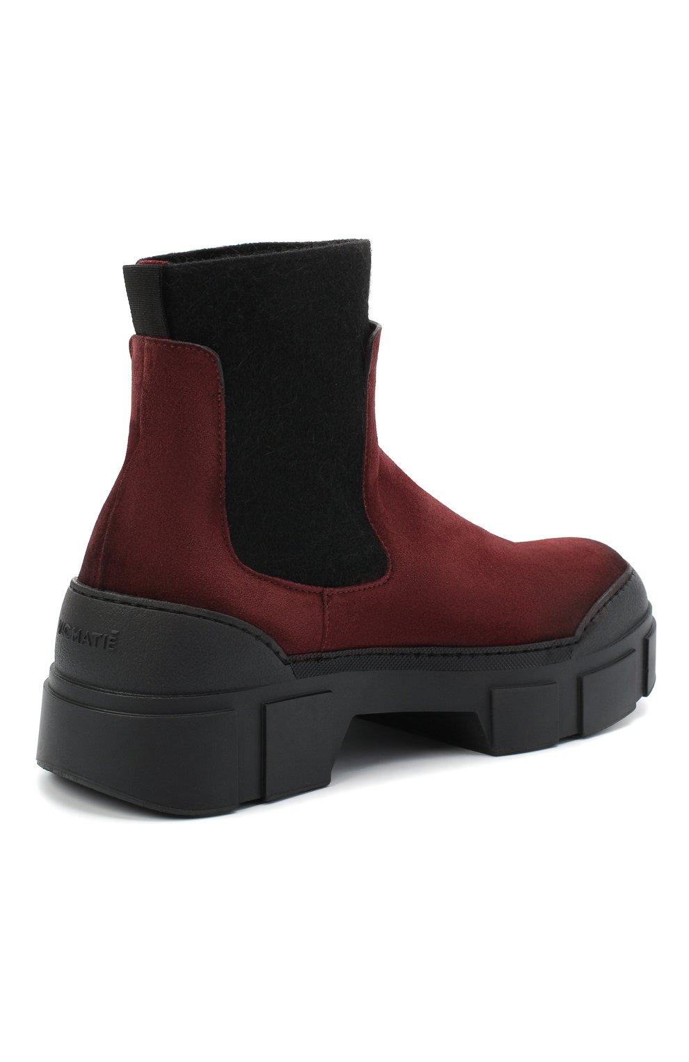 Женские замшевые ботинки VIC MATIE бордового цвета, арт. 1Y5100D.V14X050323 | Фото 4