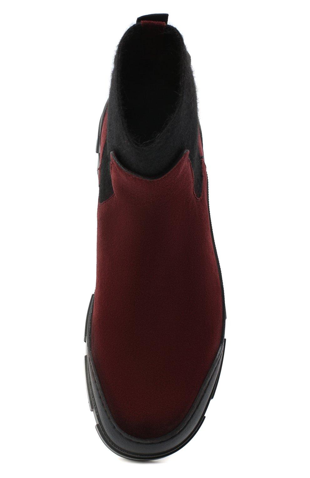 Женские замшевые ботинки VIC MATIE бордового цвета, арт. 1Y5100D.V14X050323 | Фото 5