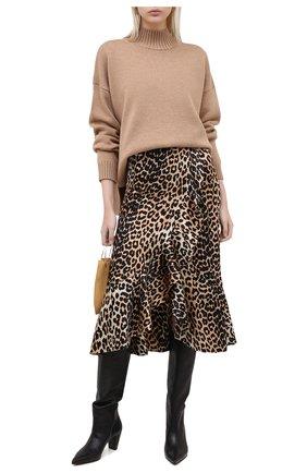 Женские кожаные сапоги VIC MATIE черного цвета, арт. 1Y5214D.Y16Y190101 | Фото 2
