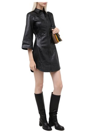 Женские кожаные сапоги VIC MATIE черного цвета, арт. 1Y5246D.Y18Y060101 | Фото 2