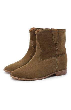 Женские замшевые ботинки crisi ISABEL MARANT коричневого цвета, арт. CRISI/B00103-00M103S | Фото 1