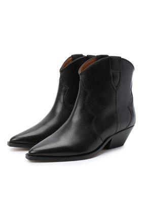 Женские кожаные ботинки dewina ISABEL MARANT черного цвета, арт. DEWINA/B00174-20A021S | Фото 1