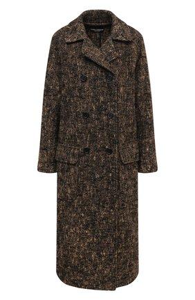 Женское шерстяное пальто DOLCE & GABBANA коричневого цвета, арт. F0AD8T/FMMF4 | Фото 1