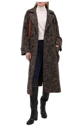 Женское шерстяное пальто DOLCE & GABBANA коричневого цвета, арт. F0AD8T/FMMF4 | Фото 2