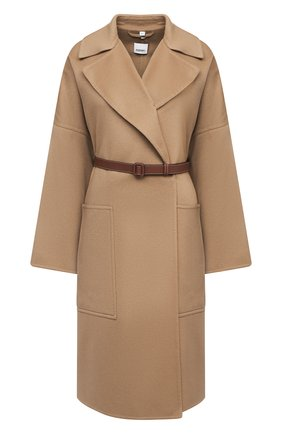 Женское кашемировое пальто BURBERRY бежевого цвета, арт. 8026530 | Фото 1