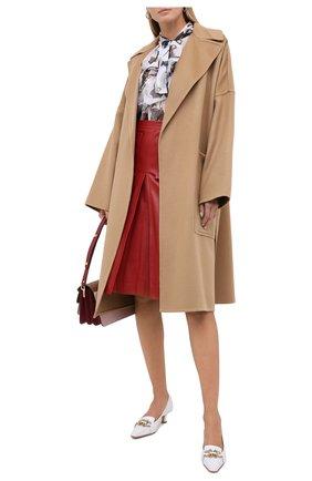 Женское кашемировое пальто BURBERRY бежевого цвета, арт. 8026530 | Фото 2