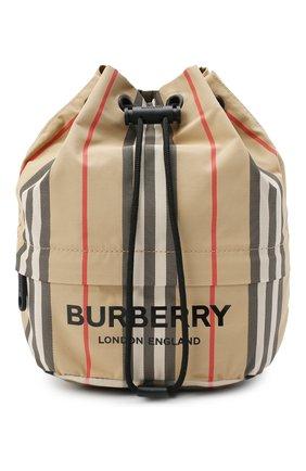 Женская текстильная сумка phoebe BURBERRY бежевого цвета, арт. 8026737   Фото 1 (Сумки-технические: Сумки top-handle; Размер: small; Материал: Текстиль)