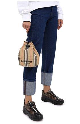 Женская текстильная сумка phoebe BURBERRY бежевого цвета, арт. 8026737   Фото 2 (Сумки-технические: Сумки top-handle; Размер: small; Материал: Текстиль)