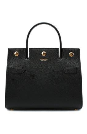 Женская сумка title small BURBERRY черного цвета, арт. 8030302 | Фото 1