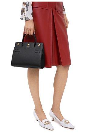Женская сумка title small BURBERRY черного цвета, арт. 8030302 | Фото 2