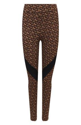 Женские леггинсы BURBERRY коричневого цвета, арт. 8030494 | Фото 1