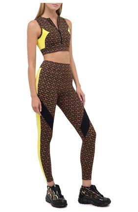 Женские леггинсы BURBERRY коричневого цвета, арт. 8030494 | Фото 2