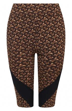 Женские шорты BURBERRY коричневого цвета, арт. 8030495 | Фото 1