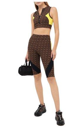 Женские шорты BURBERRY коричневого цвета, арт. 8030495 | Фото 2