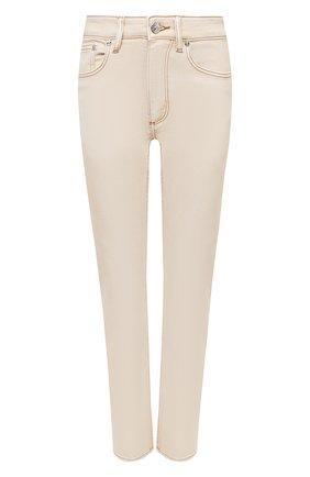 Женские джинсы BURBERRY бежевого цвета, арт. 8030643 | Фото 1