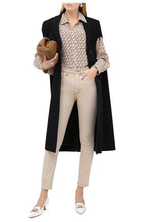 Женские джинсы BURBERRY бежевого цвета, арт. 8030643 | Фото 2