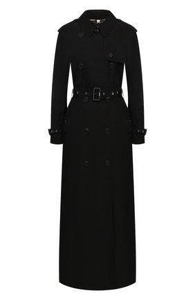 Женский тренч BURBERRY черного цвета, арт. 8030936 | Фото 1