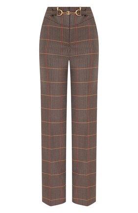 Женские шерстяные брюки BURBERRY коричневого цвета, арт. 8030984 | Фото 1