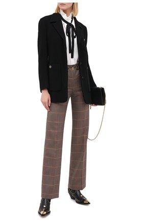 Женские шерстяные брюки BURBERRY коричневого цвета, арт. 8030984 | Фото 2