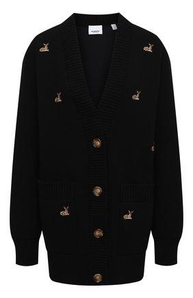 Женский кардиган BURBERRY черного цвета, арт. 8032267 | Фото 1