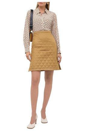 Женская юбка BURBERRY бежевого цвета, арт. 8032290 | Фото 2