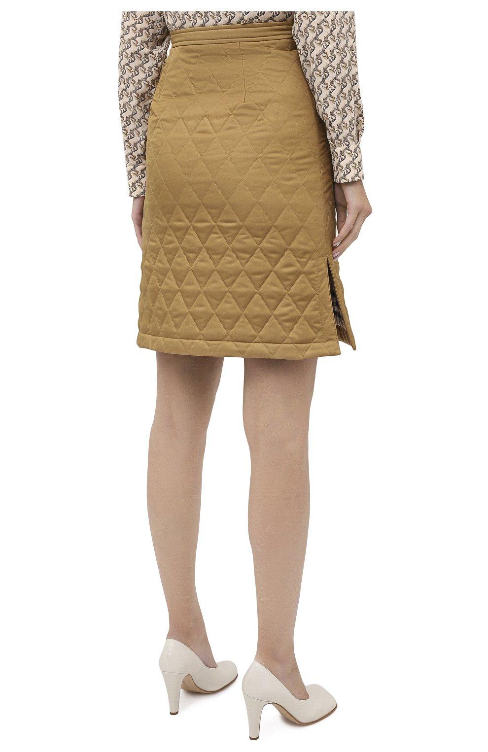 Женская юбка BURBERRY бежевого цвета, арт. 8032290 | Фото 4