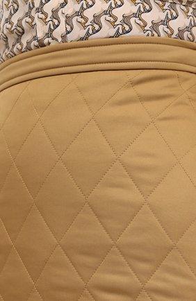 Женская юбка BURBERRY бежевого цвета, арт. 8032290 | Фото 5