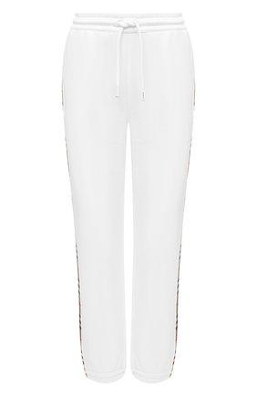 Женские хлопковые джоггеры BURBERRY белого цвета, арт. 8032296 | Фото 1