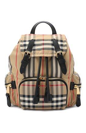 Женский рюкзак rucksack small BURBERRY бежевого цвета, арт. 8032708 | Фото 1
