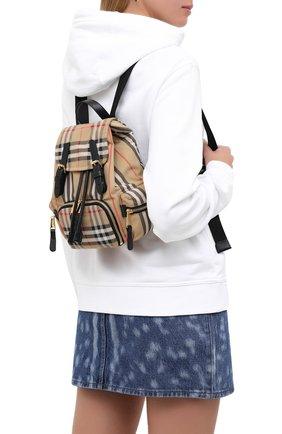 Женский рюкзак rucksack small BURBERRY бежевого цвета, арт. 8032708 | Фото 2