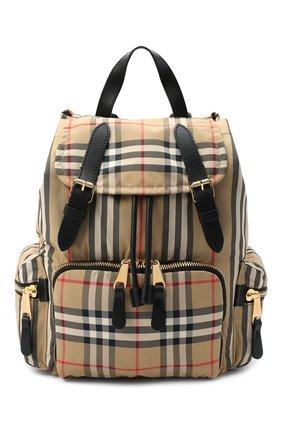 Женский рюкзак rucksack medium BURBERRY бежевого цвета, арт. 8032709 | Фото 1