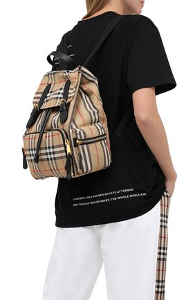 Женский рюкзак rucksack medium BURBERRY бежевого цвета, арт. 8032709 | Фото 2