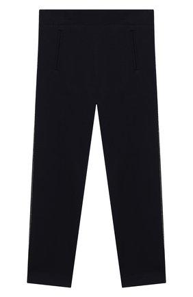 Детского хлопковые брюки DAL LAGO синего цвета, арт. R215A/8945/4-6 | Фото 1