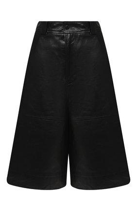 Женские кожаные шорты GANNI черного цвета, арт. F4947 | Фото 1
