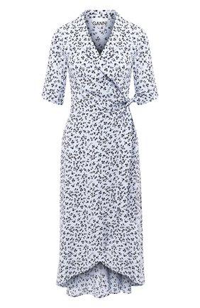 Женское платье из вискозы GANNI голубого цвета, арт. F4993 | Фото 1
